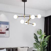 Nordic LED Avize Modern Hattı Yaratıcı Moleküler Cam Top Asılı Lamba Oturma Odası Yatak Odası Sihirli Fasulye Asmak Işık Fikstür