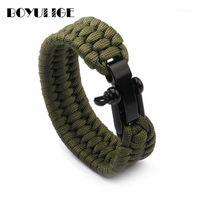 Chaud Mode Camping en plein air Hommes Bijoux Handmake bricolage Bracelets de corde tressé pour femmes Sport Style Homme Femme1