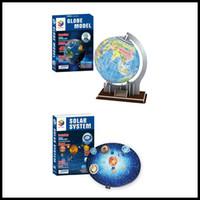 Classic DIY 3D Puzzle Globe World Solar Modelo arquitectónico famoso Playground Mensaje Modelo Modelo Puzzle Juguetes para niños