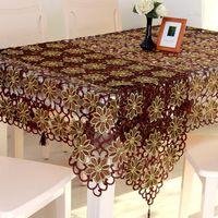 Mantel de mesa redondo para la boda Crochet Color Color Rectángulo Corredor Bordado Navidad 222166000