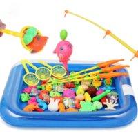 الأطفال الصبي فتاة الصيد لعبة مجموعة دعوى المغناطيسي اللعب المياه الطفل اللعب الأسماك ساحة هدية الساخنة للأطفال شحن مجاني التعليم الأول