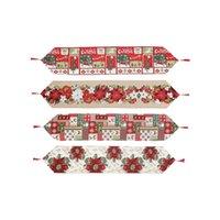 Noel masa koşucu / Noel dekor / Noel öğesi desen masa örtüsü / yaratıcı Avrupa ve Amerikan tarzı / ev giyinme LJ201217