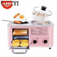 Cukyi Electric 3 in 1 Haushaltsfrühstücksmaschine Mini Bread Toaster Backofen Omelette Fry Pan Hot Pot Topf Boiler Food Steamer EU # JB3A