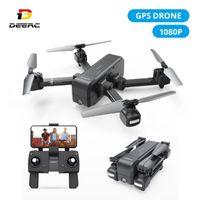Drones DEERC DEVE DE25 GPS Drone com 1080P HD Camera 120 ° FPV WIFI Vídeo Live Video Professional RC Helicóptero Quadcotper Quadrocopter