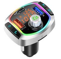 자동차 블루투스 듀얼 USB PD3.0 출력 qc3.0 지원 USB TF 카드 MP3 플레이어 BC66 BC63 5.0 무선 FM 송신기