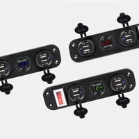 1 STÜCKE Auto Marine Boat Switch Panel 5V 4.2A Dual USB-Ladegerät Zigarettenanzünder 12V LED-Voltmeter On-off-Kippschalter Panel1