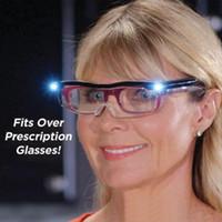 マイティサイトLEDライトメガネプレゼンピア拡大鏡LEDメガネ照明の夜の視力ガラスを読むガラス照明ガラス
