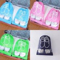 Нетканая сумка для хранения ткани Портативная печать Путешествующая обувь Пучок карманные сумки для обуви розовые домашние женщины мужчины дома 1 18bd M2