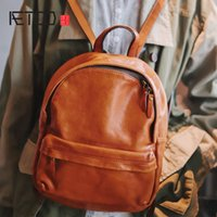 Sac à dos rétro en cuir AETOO en cuir HBP, sac à dos à grande capacité de style national, sacs à dos en cuir décontracté