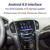 Автомобильная коробка интерфейса Android видео на 2019 год 2020 Cadillac ATS MultiMedia интерфейс с беспроводным / USB Carplay Carplay