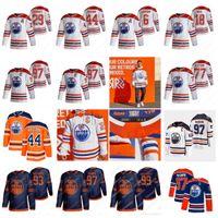 Connor McDavid Edmonton Oilers 2021 عكس الرجعية كولبي كهف ليون درايسيتل ريان نوجنت هوبكنز Gretzky ممرضة كاسيان باري جيرسي