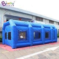 개인화 된 8x4x3 미터 블루 풍선 페인트 텐트 / 휴대용 풍선 스프레이 페인트 부스 자동차 장난감 스포츠
