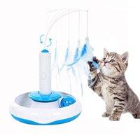 3 em 1 animal de estimação gato brinquedo elétrico automático gato gato teaser pena varinha brinquedo engraçado bola treinamento brinquedos para gatos kitten interactive1