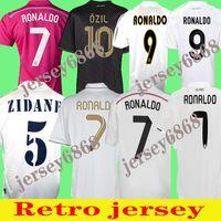 Rétro Real Madrid Soccer Jersey 10 11 12 Football final Sergio Ramos 13 14 15 16 Ronaldo Zidane Beckham 06 07 Raul Robinho 98 97 96 Vintage