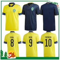 2020 Sweden National Soccer Jerseys Ibrahimovic Kallstrom Forsberg Adult Homme Adulte + Kit Enfants Shirt Football Soccer