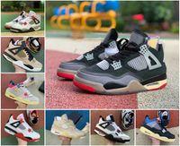 2020 voile crème 4 hommes chaussures de basketball indéfectées X Union Guava Ice Noir 4s Bred Unc Blanc The Retrones Citron Pale Citron Pure Money Sneakers