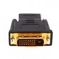 Freeshipping 10st DVI 24 + 1 Konvertera guldpläterad Man till Kvinna 1080p HDTV Adapter Converter Cable
