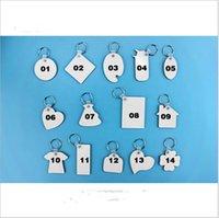MDF 빈 열쇠 고리 홀더 승화 나무 키 체인 양면 열 전사 열 인쇄 DIY 사진 로고 펜던트 E120302