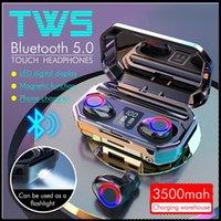 새로운 M12 TWS 무선 헤드폰 블루투스 5.0 이어폰 HIFI 방수 이어 버드 터치 컨트롤 헤드셋 스포츠 게임 헤드셋