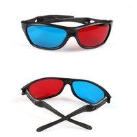 SonnenbrilleLife Black Frame Universal 3D Plastikgläser / Oculos / rot Blaues blaues Cyanglas Anaglyph Movie Game DVD Vision / Cinema1