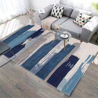 Simple Style Parlor Área de la alfombra Franela antideslizante Corredor Corredor de la cama Decoración de la cama Alfombra Splash Tinta Geométrica Sala de estar Alfombra