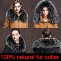 2020 new Women natural fur collar multicolor shawl collar fur female fashion autumn and winter warm shawl scarves
