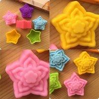 Stampi in silicone cupcake Pentagonale a forma di stella a forma di cottura utensili muffa muffa rossa giallo verde blu viola silicone stampo 0 3be l1