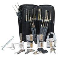 24pcs Locksmith 도구 4 잠금 투명 잠금 연습 세트 연습 잠금 편리한 도구