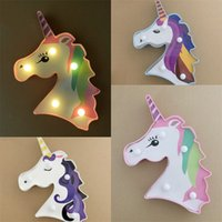 Pegatinas de unicornio LED Lámpara de esculturas Lámparas para niños Lámparas de juguete Centros de boda Decoraciones Luces de motivos Nueva llegada 3 8xc F2