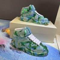 2020 Mc Quén imported hand- painted leather platform shoes lu...
