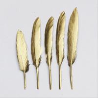 4-6 дюймовый золотой серебряный перо шлейфы поставляет поставки свадебные украшения Центральныеформы / веб-знаменитость украшения стены шляпа аксессуары DDE3374