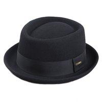Sedancasesa Uomo Fedora Fashion 100% Pure Australia Uomo con torta di maiale per classico cappello in feltro di lana chiesa 201218
