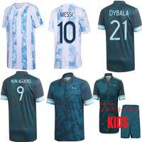 أعلى جودة 2020 2021 كرة القدم قميص أجويرو dybala مايلوت دي القدم الأرجنتين جيرسي المنزل بعيدا أجويرو ميسي كون