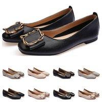 dames Chaussures plates taille lager 33-43 femmes fille nue en cuir gris noir Nouveau arrivel mariage chaussures Groupe de travail Robe Cinquante-quatre