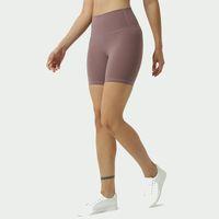 Color sólido Mujer Pantalones de yoga Cintura alta Gimnasio Gimnasio Desgaste Leggings Elástico Fitness Lady General Mallas Completas Entrenamiento Entrenamiento Fitness Shorts KG-91