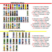 58 Designs 18650 20700 21700 BATTERIA PVC Skin Sticker Skin Through Wrap Cover Manicotto Riduzione termoretraibile per batterie Wrapper Caricatore
