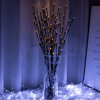 20LEDS LED Willow Filial Lâmpada de Lâmpada Luzes Ramos Corda Claro Bateria Automada Casa Party Cafe Shop Christmas Decor Lamp 30pcs T1i3040