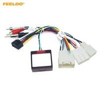 Toyota Prado / Sequoia / Lexus 330/350 와이어 링 하네스를위한 캔버스 박스가있는 Feeldo Android 전원 케이블 어댑터 16pin 안 드 로이드 전원 케이블 어댑터 # 6439