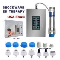 USA Stock Touch Screen Shockwave ED Máquina de Terapia Cuidados de Saúde Corporal Dor Remova a massagem arma choque onda massageador dispositivo