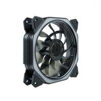 Прокладки охлаждения ноутбука 120 мм CPU Cooler вентилятор Intel LED 8 демпфирование нижнего шума радиатора вентилятора, RGB1