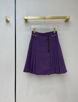 2021 İlkbahar Yaz Sonbahar Kış Milan Tasarımcı Etekler Moda Bir Etek Kadın Marka Aynı Stil Etekler 0128-4