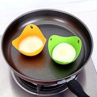Silikon Yumurta Poacher Fincan Gıda Sınıfı Silikon Haklatı Pods Pan Kalıp Yumurta Kalıp Kase Yüzükler Ocak Kazan Mutfak Pişirme Aracı Gadget
