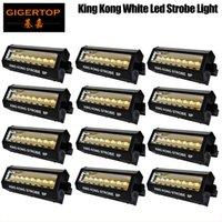 Rabatt Preis 12 Einheiten 8x20w weiß Kingkong LED Weiß Stroboskope Disco DJ Party Feiertags-Weihnachts Music Club Sound aktiviert