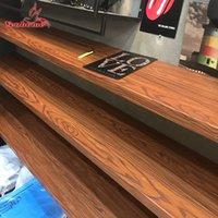 Cucina Impermeabile Adesivi murali Adesivi Mobili Vinile Autoadesivo Carta da parati in legno Grano di legno Contatto Carta film Armadio Adesivi per porte 201203