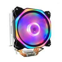 Pastiglie di raffreddamento per laptop 12 cm CPU Radiatore di raffreddamento LED Ventola 6 Tubo di calore 3 Pin HeatSink Heatsink per 775/1150/1155/1156/1166 AMD ALL1