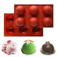 FAI DA TE Piedi rettangolari del silicone rotondi Simulazione del biscotto del cioccolato Muffa mini torta Pudding Easy Demoulding Cucina Strumenti di cottura E122201