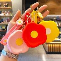 Mode Nette Girly Stil Koreanische Blume Münze Geldbörse Anhänger Mode Schlüsselanhänger Paar Zubehör Kreative Geschenke