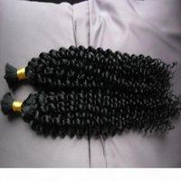 몽골어 AFRO 변두리 곱슬 곱슬 무리 인간의 머리카락 100g 곱슬 곱슬 한 몽골 벌크 머리 1pcs 인간의 꼰 머리 대량