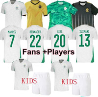 Algerie Player Soccer Jerseys 2020 21 Home Fans Maillot de Football Hemd Mahrez Brahimi Bennacer 19 20 2 Sterne Algerien Männer Kinder Kits Uniform