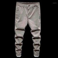2020 NOUVEAUX Hommes Stretch Slim Fit Jeans Mode Casual Slim Fit Denim Pantalons Pantalons Male Brand Vêtements Élastiqués Taille Zipper1